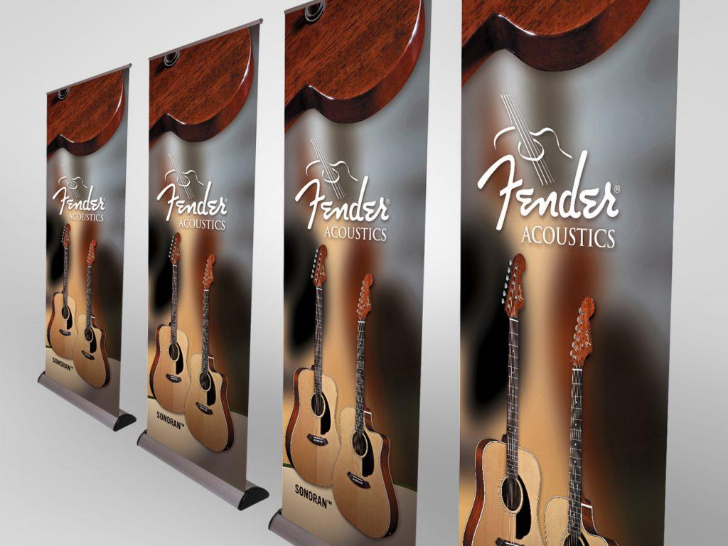 Fender pull up banner
