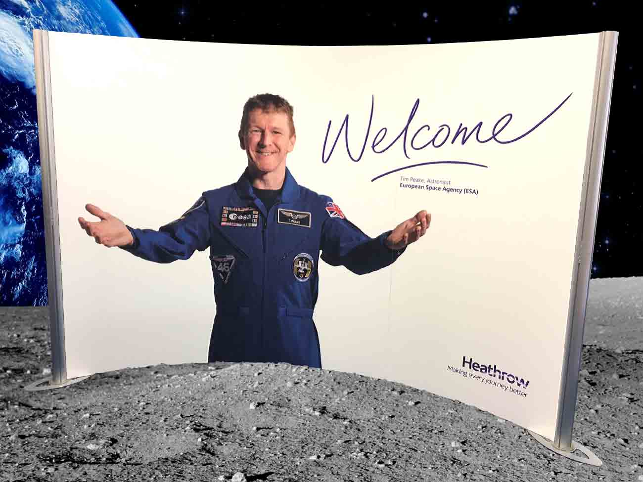 Heathow Welcomes Tim Peake