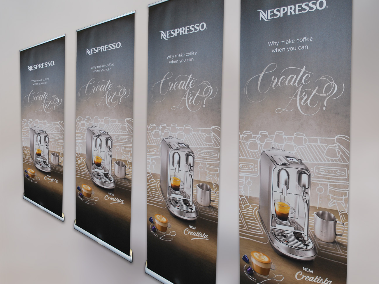 Nespresso Pull-up Banners