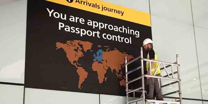 Airport Wayfinding Installation