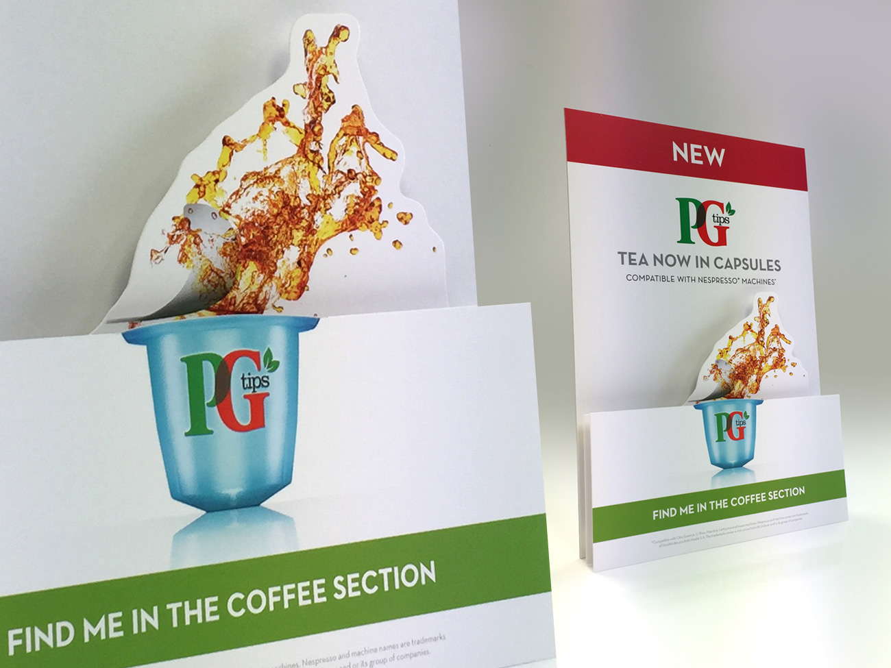 PG Tips layered strutcard