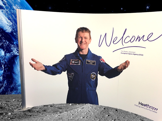 Tim Peake Heathrow Airport