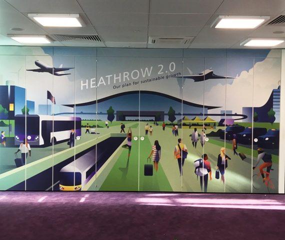 Wayfinding printing for Heathrow airport