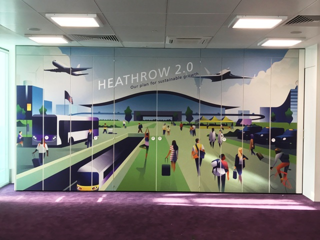 Wayfinding printing for Heathrow airport