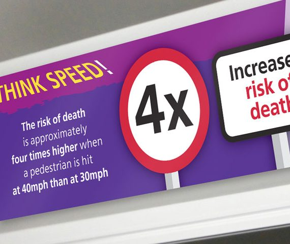 Think speed! bus posters