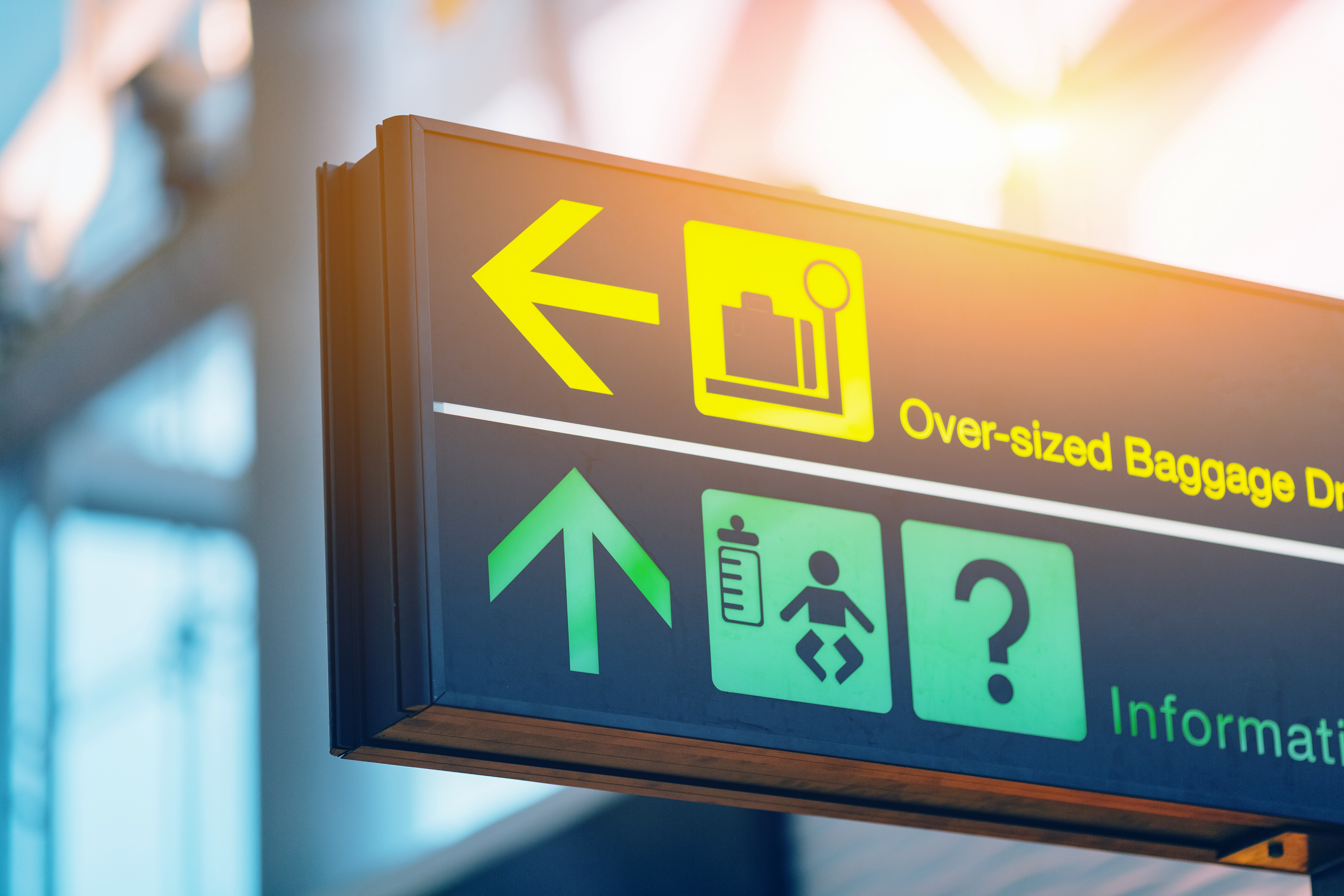 wayfinding signs airport