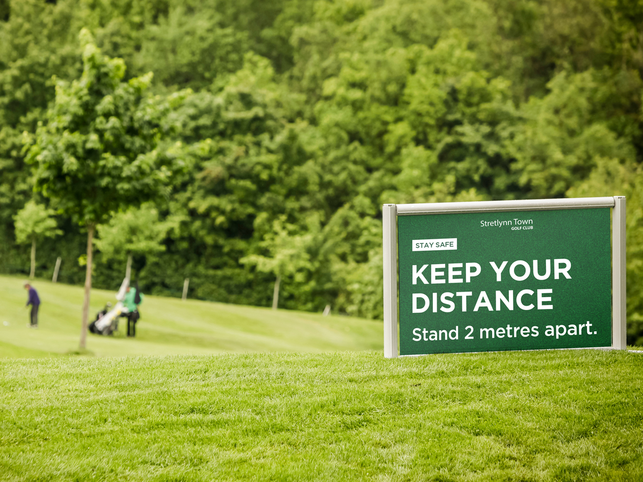 Social Distancing Golf Course Signage