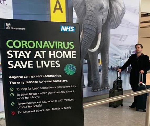 Heathrow Coronavirus PHE safety messaging