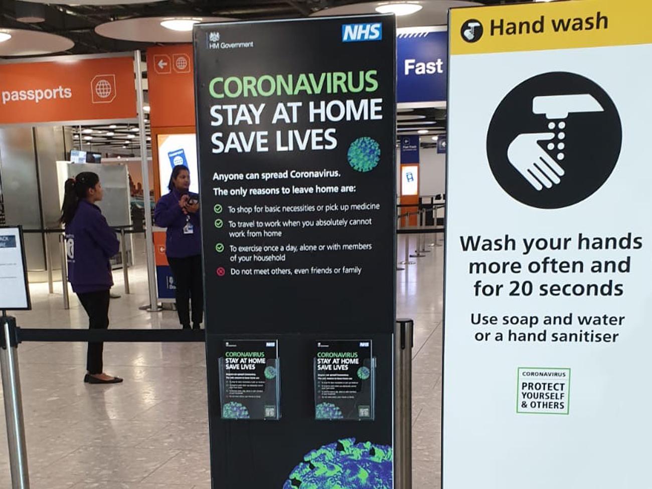 Hand wash signage