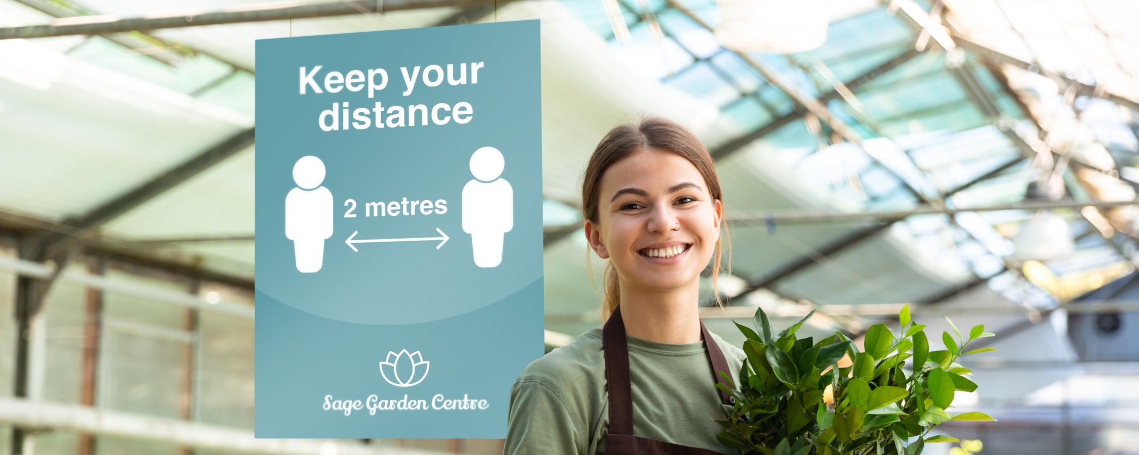 Garden Ceentre Social Distancing Signage