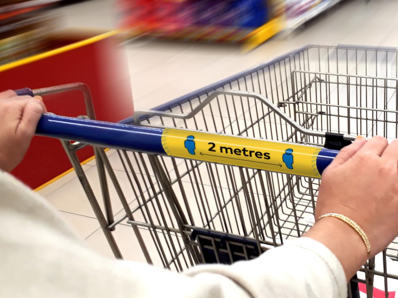 Supermarket Social Distancing Trolley