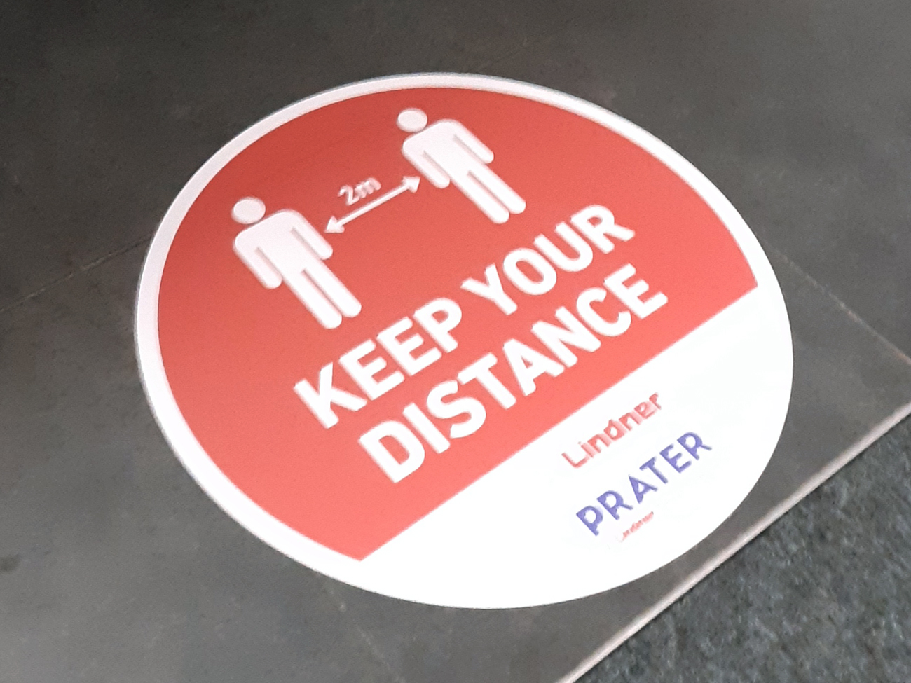 Prater keep your distance sticker