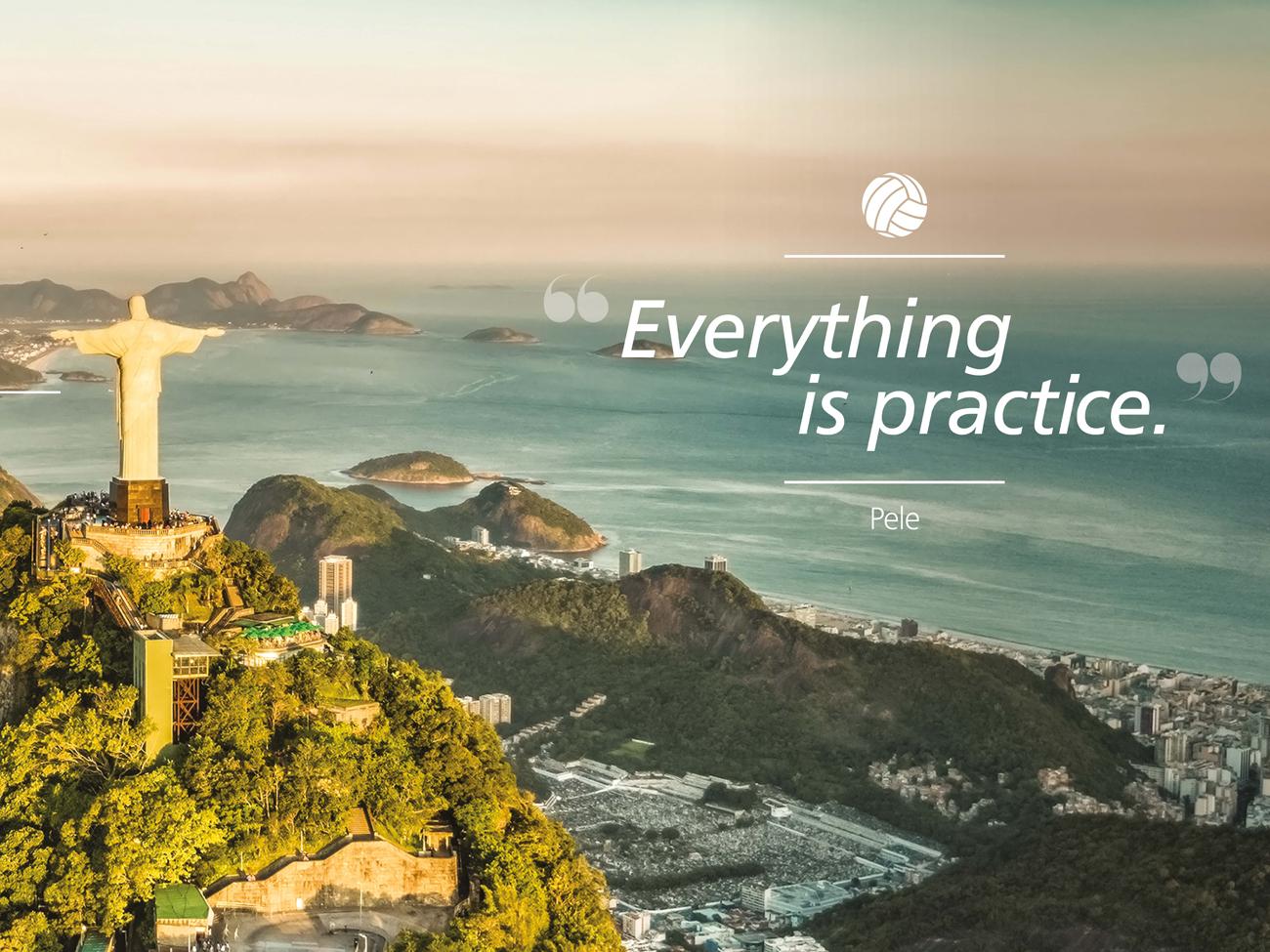 Training Graphics - Pele quote