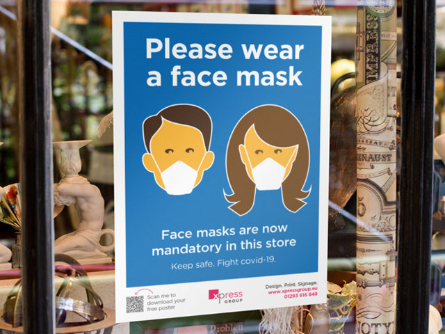 Download a free face mask poster