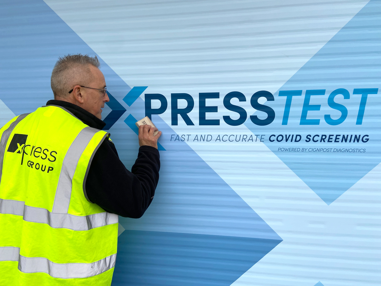 Covid19 Xpress Test Gatwick-Graphic-Xpress Group Installation Units