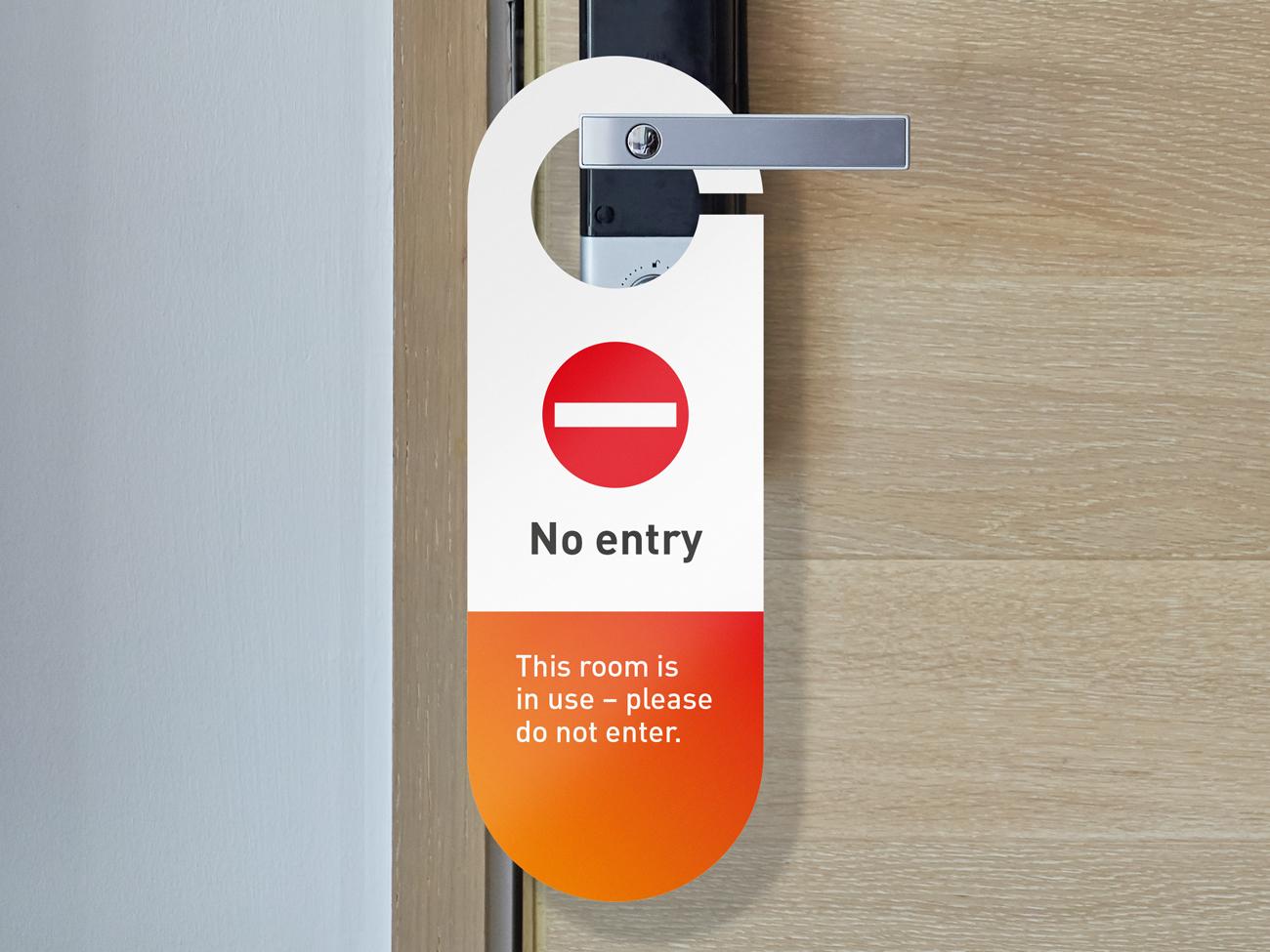 Covid Clean do not enter door hanger