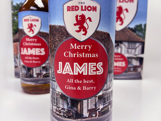 LoveMyLocal Pub gift boxes and personalised labels