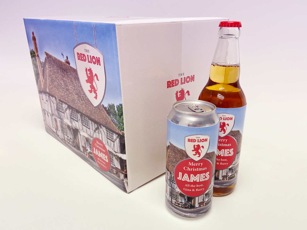 LoveMyLocal Personalised Beer Gift Box