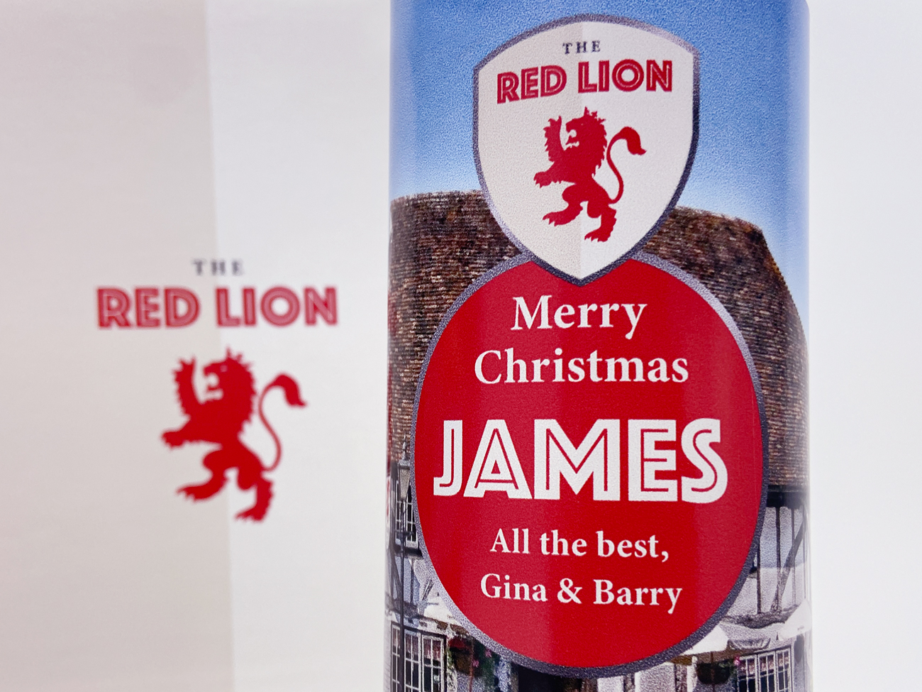 Personalised beer larger labels
