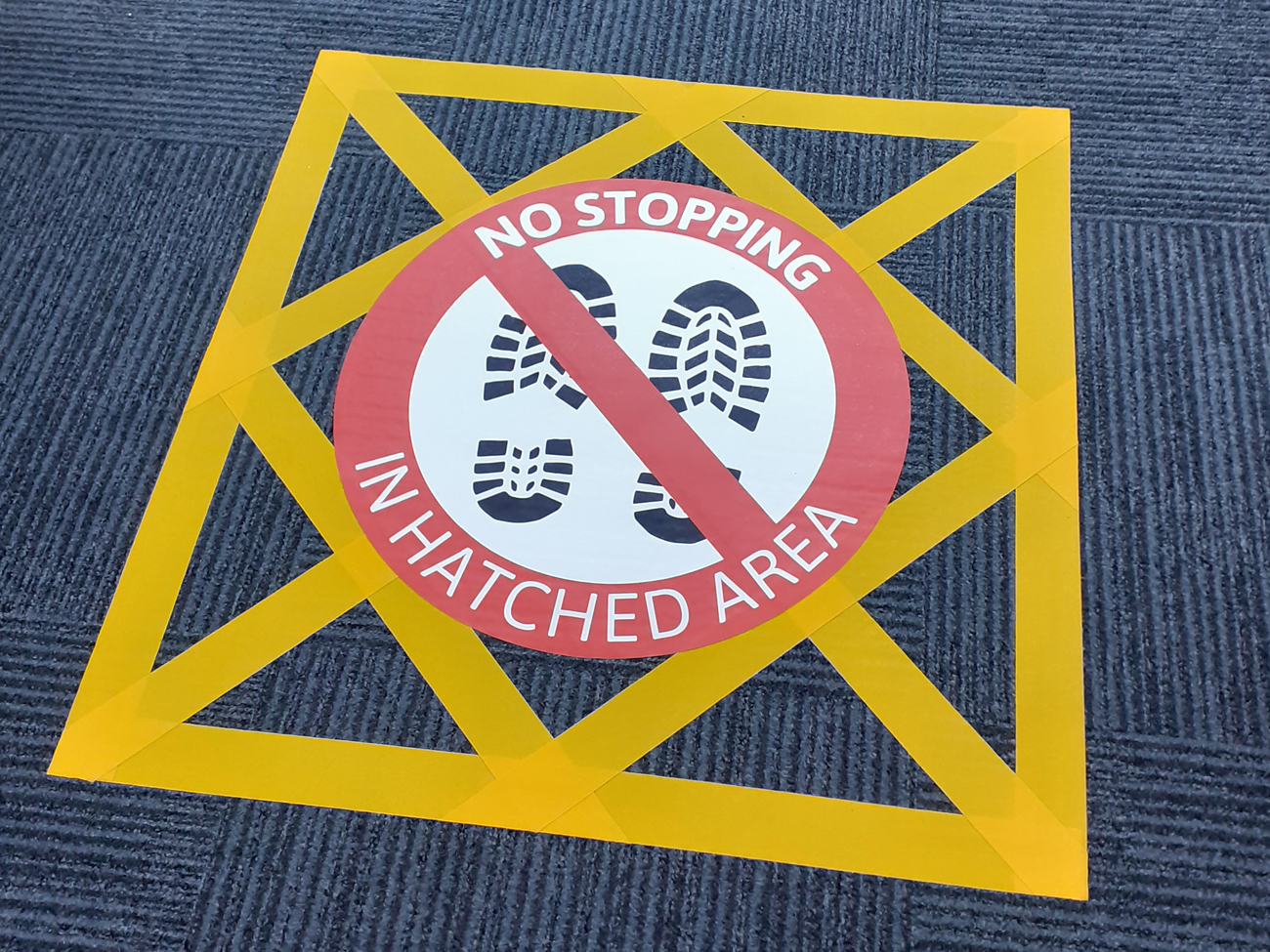 MD No Stopping Floor Graphic