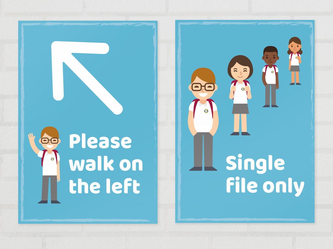 School social distancing posters