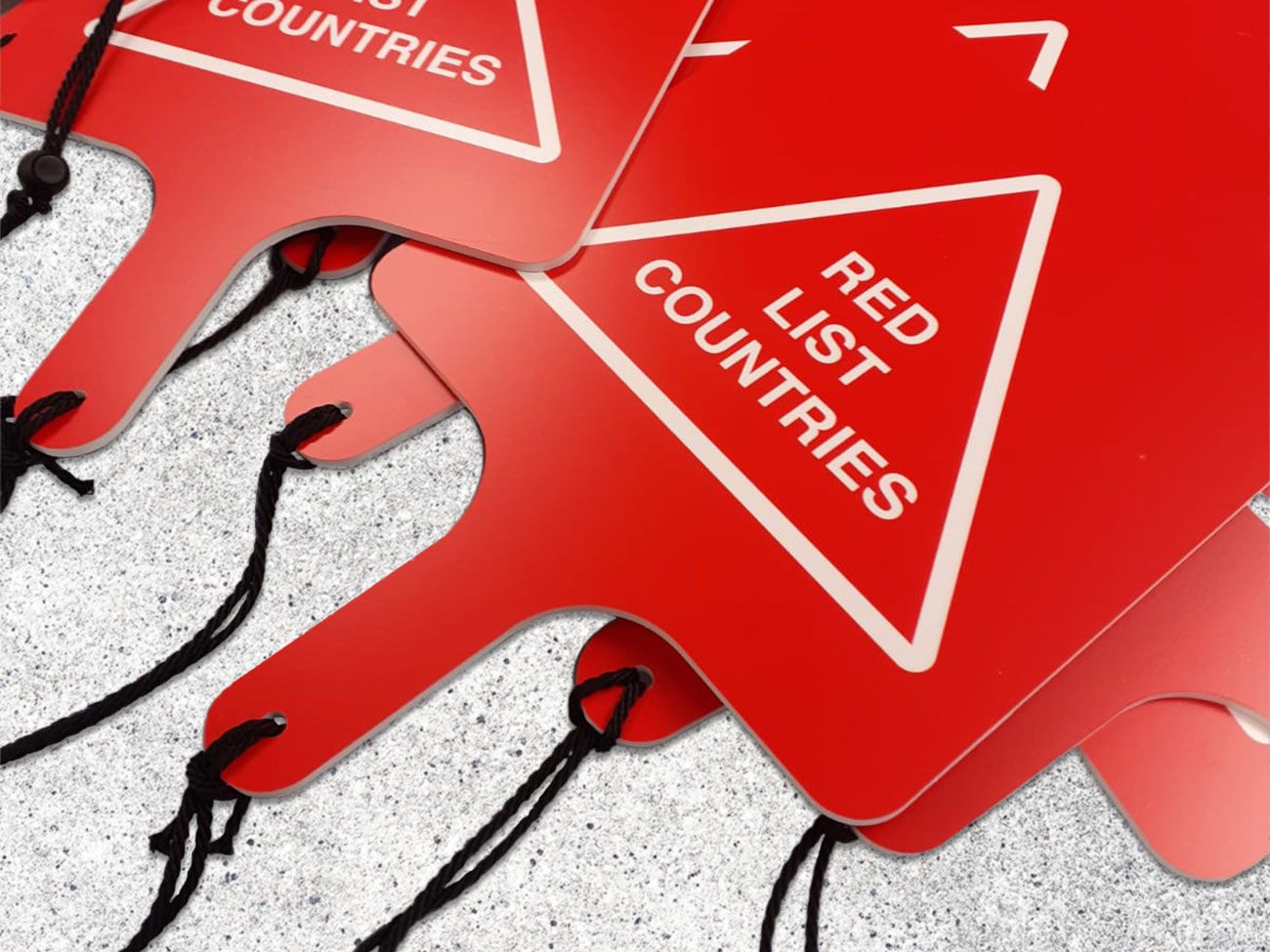 Red list countries paddle boards