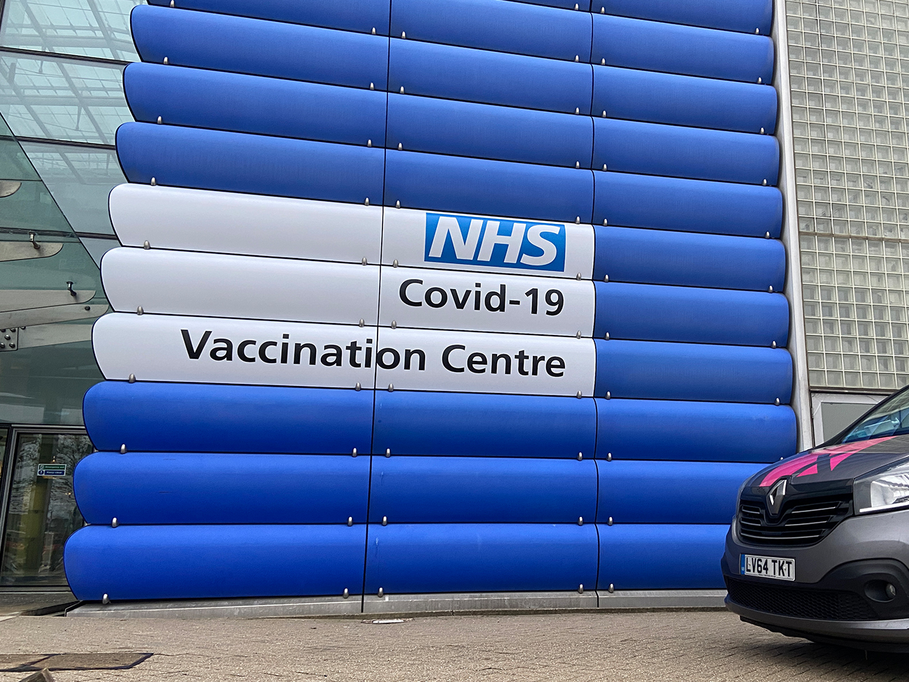 NHS Vaccination Centre Signage