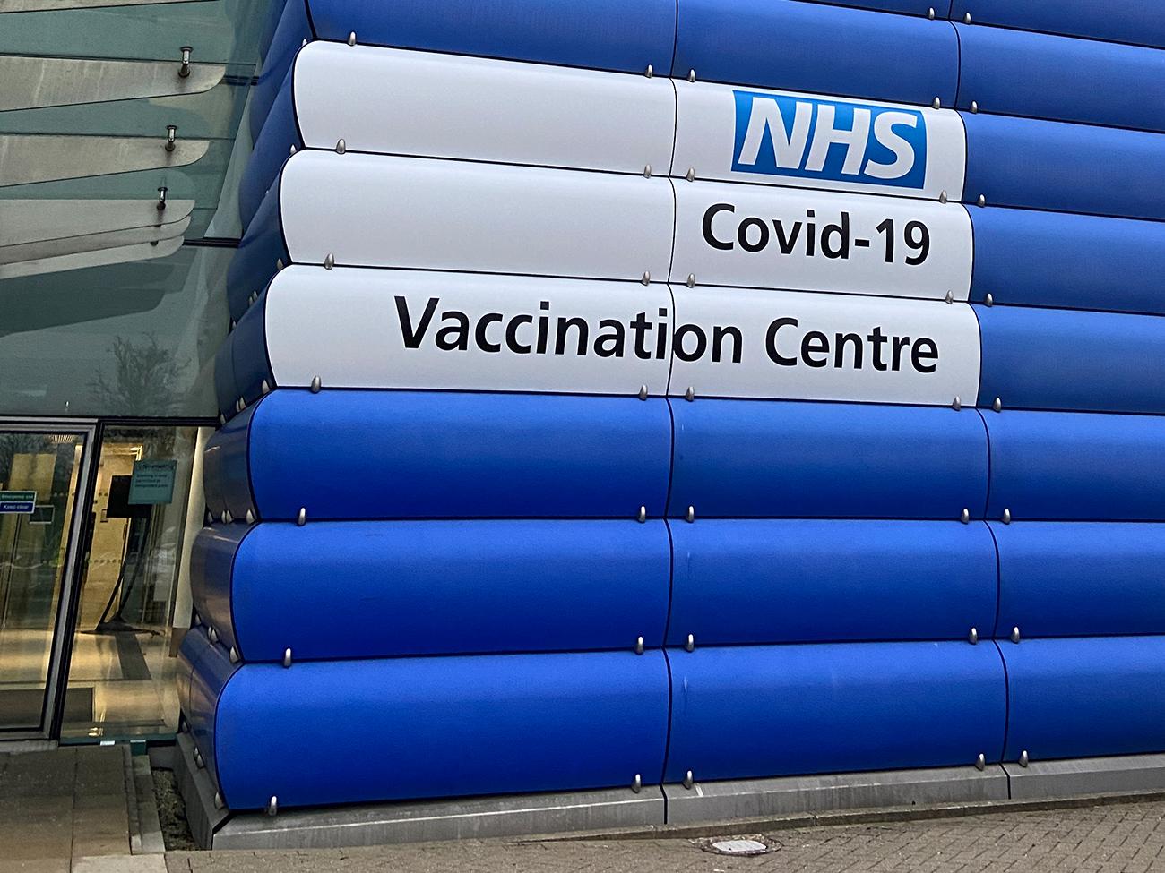 NHS Vaccination Centre Destination Branding