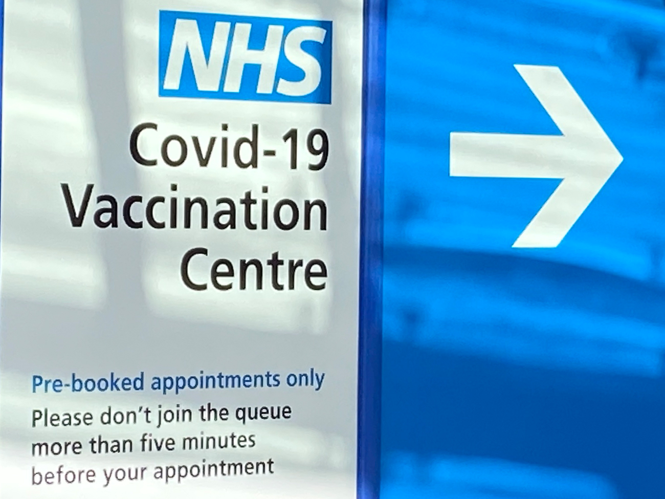 NHS Vaccination Centre wayfinding